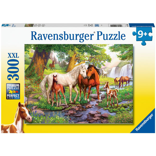 Ravensburger 300 XXL Puzzle Pieces Horses by the Stream 12904 canada ontario children kid jigsaw