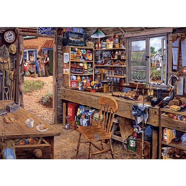 Ravensburger 500 Piece Puzzle Large Format Dad's Shed 14859 canada ontario