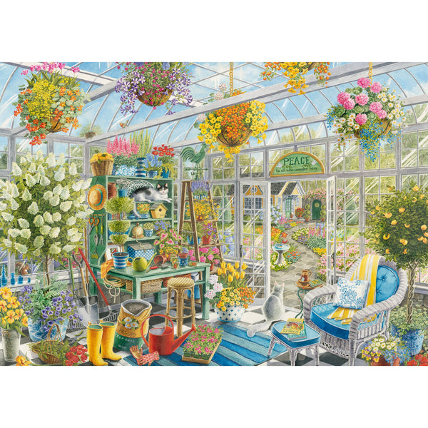 Ravensburger 300 Piece Puzzle Large Format Greenhouse Heaven 16786 canada ontario