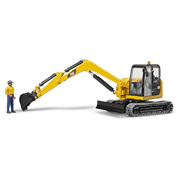 Bruder CAT Mini Excavator with Worker 02467 canada ontario