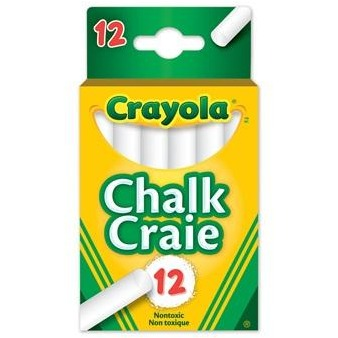 Crayola White Chalk 12 Pack