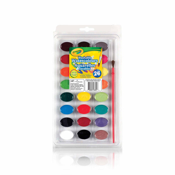 Crayola Washable Watercolour Paint 24 Count canada ontario