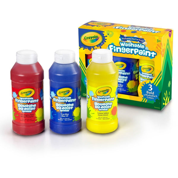 Crayola Washable Finger Paint 3 Pack primary colors colours canada