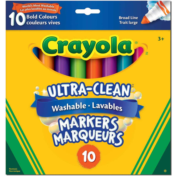 Crayola Ultra Clean Washable Broad Line Markers 10 Pack