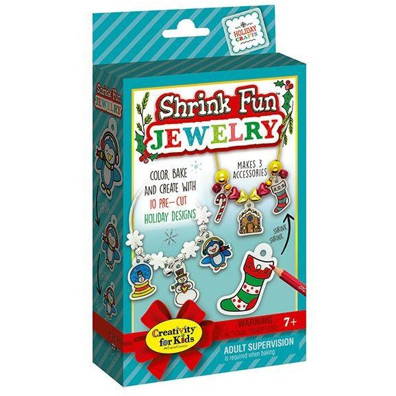 Creativity for Kids Holiday Shrink Fun Jewelry