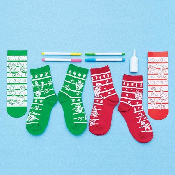 Creativity for Kids Holiday Doodle Socks