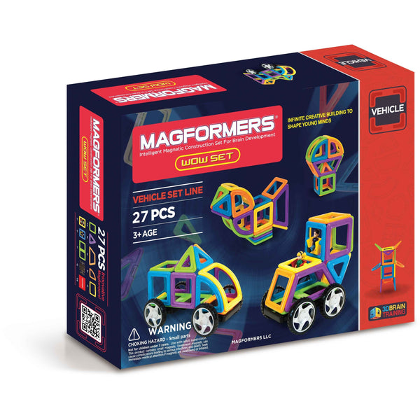 Magformers Wow 27 Piece Vehicle Set