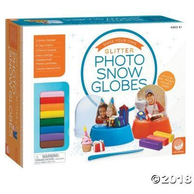 Glitter Photo Snow Globes mindware outset media