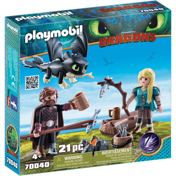 Playmobil How to Train Your Dragon Hiccup and Astrid Playset dragons 70040 canada