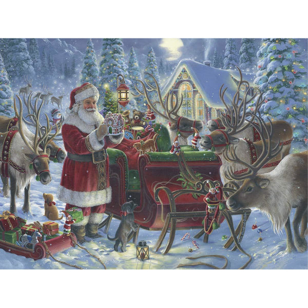 Ravensburger 1000 Piece Puzzle Packing the Sleigh 13977 canada ontario