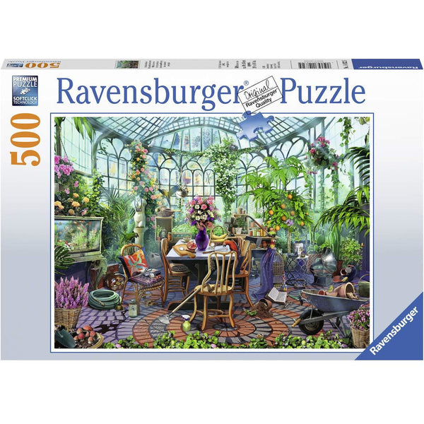 Ravensburger 500 Piece Puzzle Greenhouse Mornings 14832