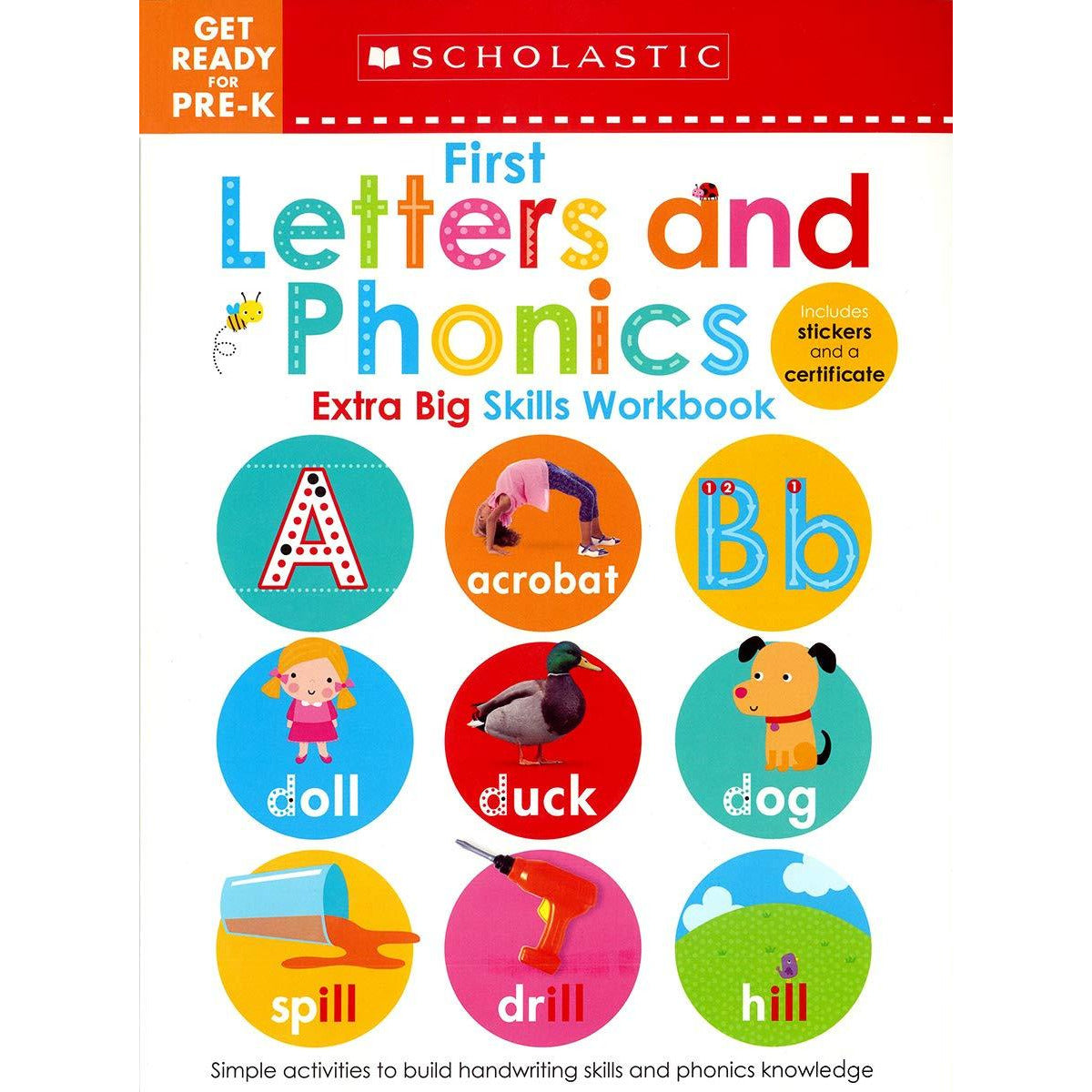 Scholastic Workbook Extra Big Skills: Get Ready for Pre-K: First Letters & Phonics canada ontario