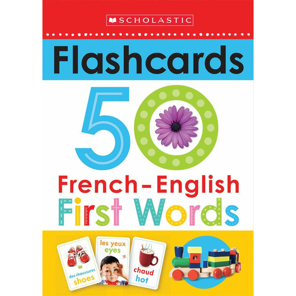 Scholastic Early Learners: Flashcards French-English 50 First Words canada ontario