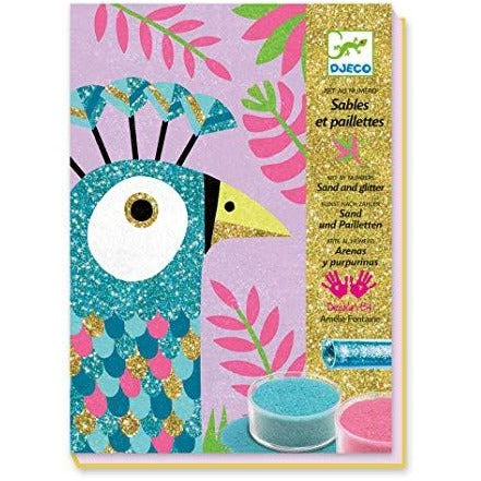 Djeco Coloured Sand Dazzling Birds