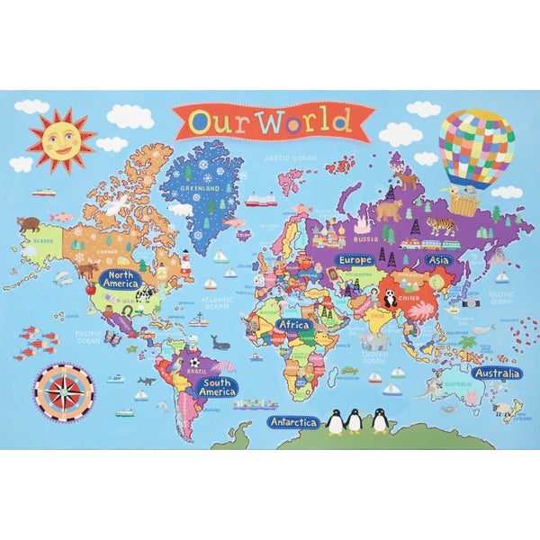 Our World Kid's Laminated Map