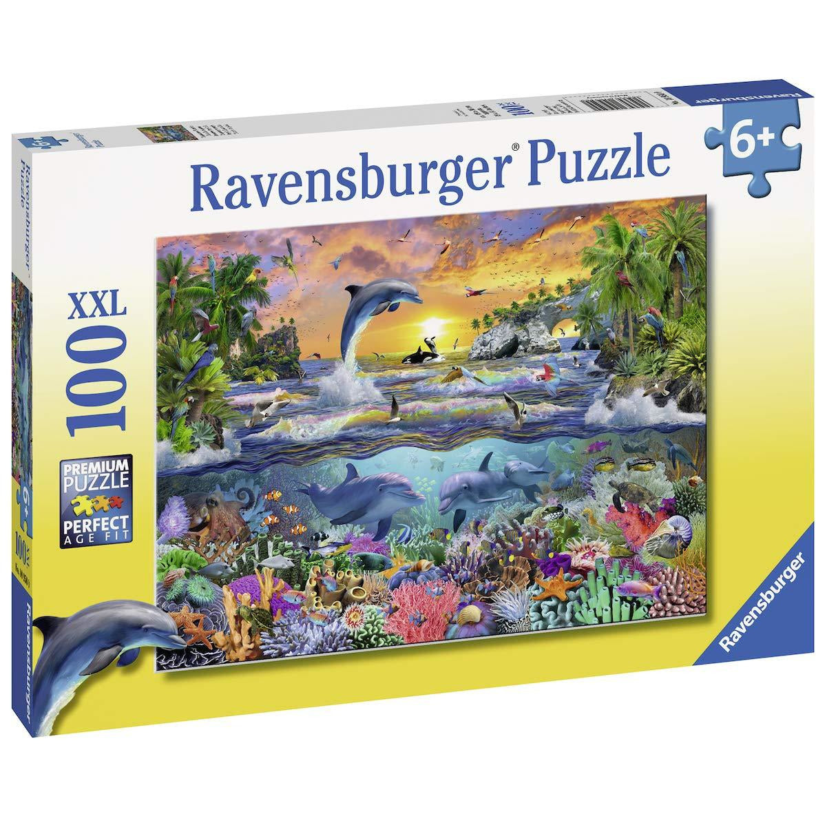 Ravensburger 100 Piece Puzzle Tropical Paradise 10950 canada ontario whale dolphin