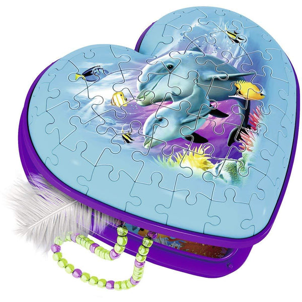 Ravensburger 54 Piece 3D Puzzle Heart Case Underwater