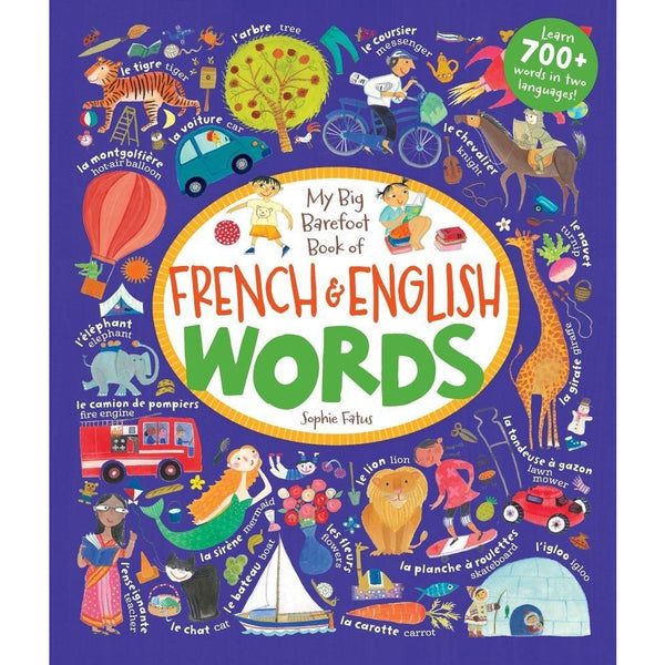 My Big Barefoot Book of French and English Words canada ontario sophie fatus