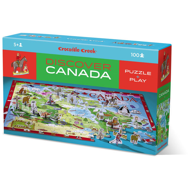 Crocodile Creek Puzzle 100 Piece Learn & Play Canada