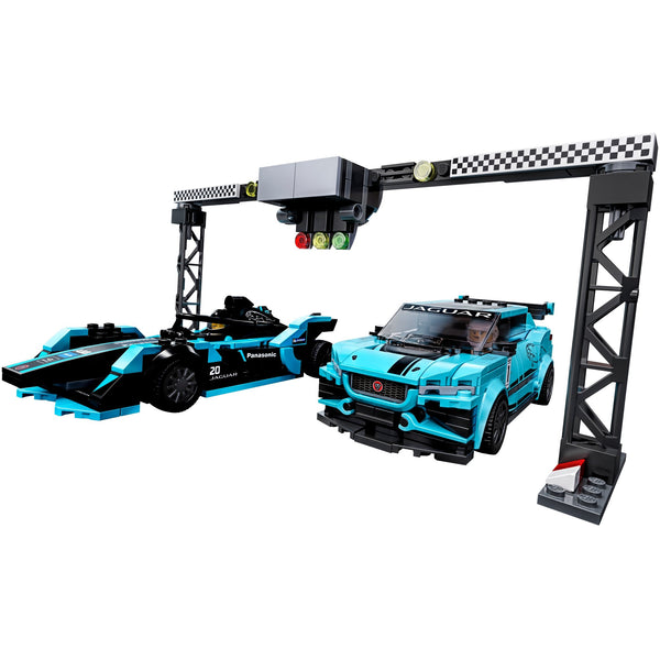 LEGO Speed Champions Formula E Panasonic Jaguar Racing GEN2 car & Jaguar I-PACE eTROPHY 76898 canada ontario blue