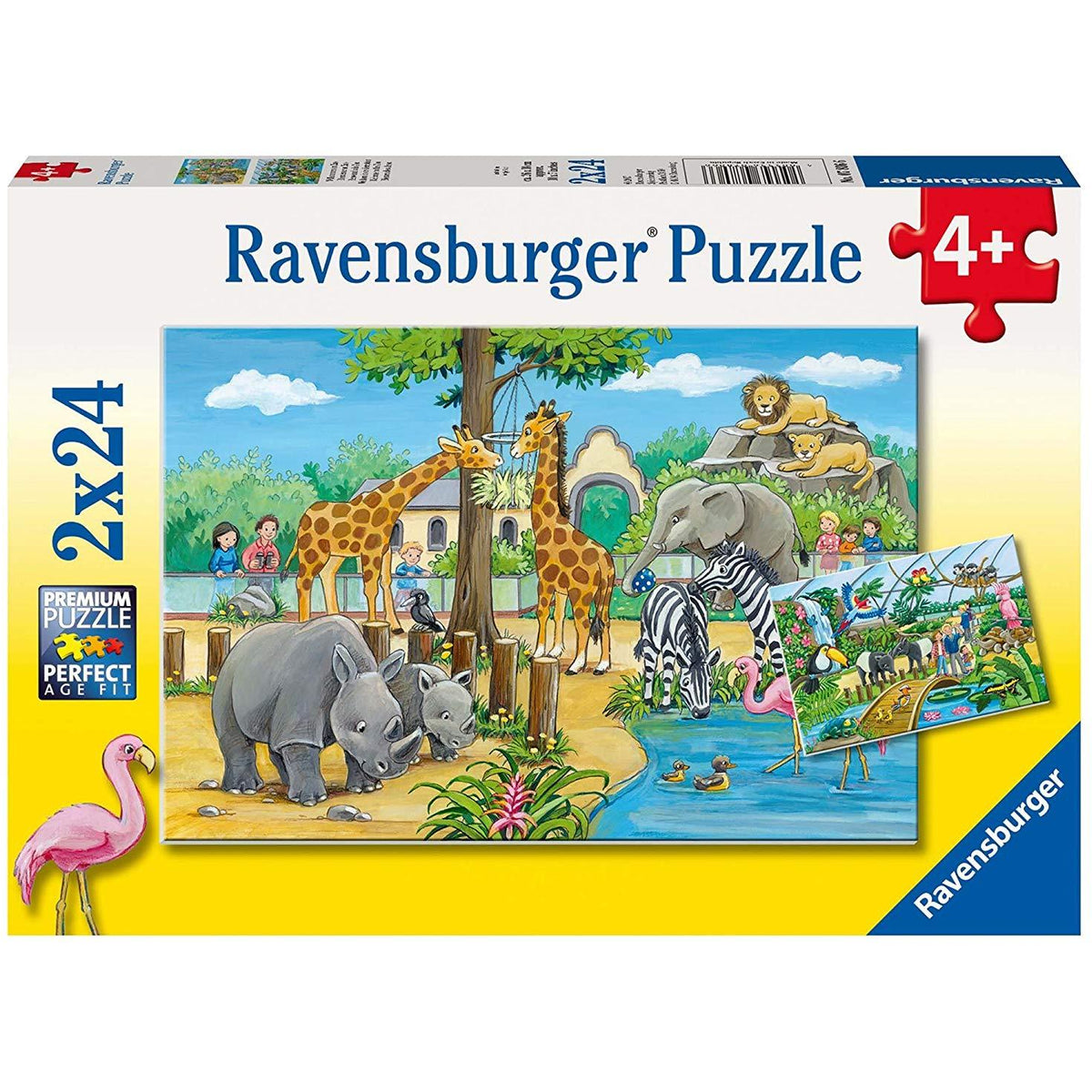 Ravensburger 2x24 Piece Puzzle Welcome to the Zoo