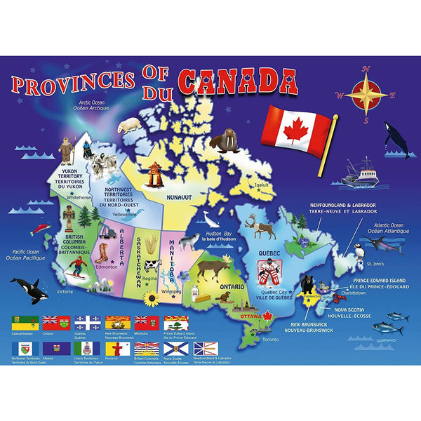 Ravensburger 100 Piece Puzzle Map of Canada 10569 canada ontario
