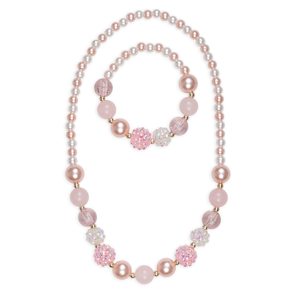 Great Pretenders Pinky Pearly Bracelet and Necklace Set