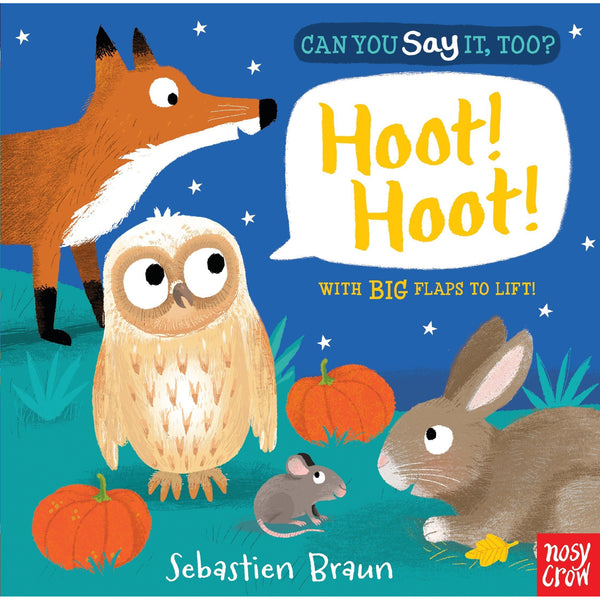 Can You Say It Too? Hoot Hoot Board Book nosy crow sebastien braun
