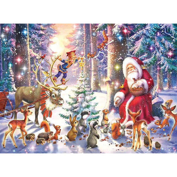 Ravensburger 100 Piece Puzzle Christmas in the Forest