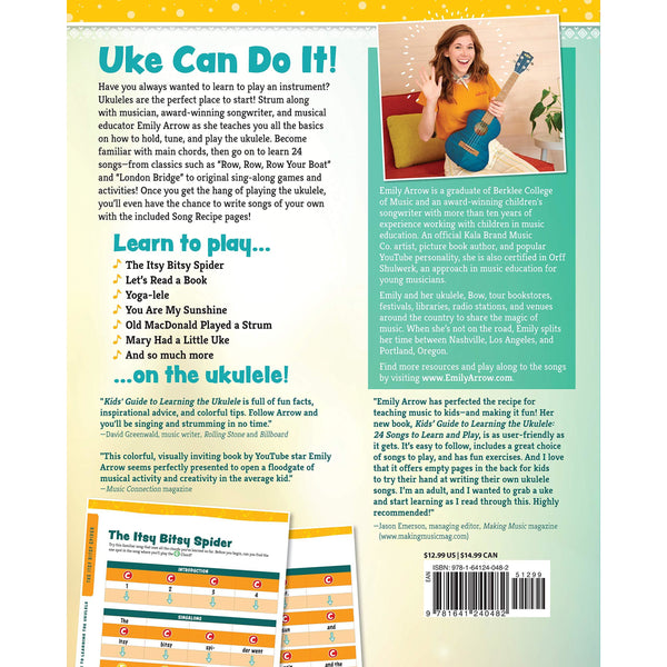 Kid's Guide to Learning the Ukulele 9781641240482 emily arrow canada ontario