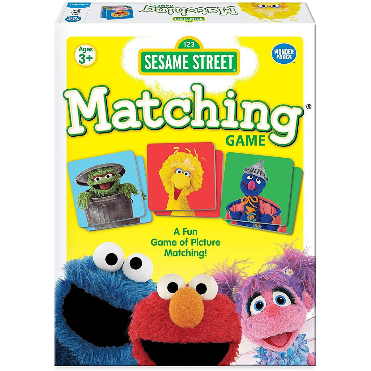 Sesame Street Matching Game canada ontario cookie monster elmo grover abby oscar big bird