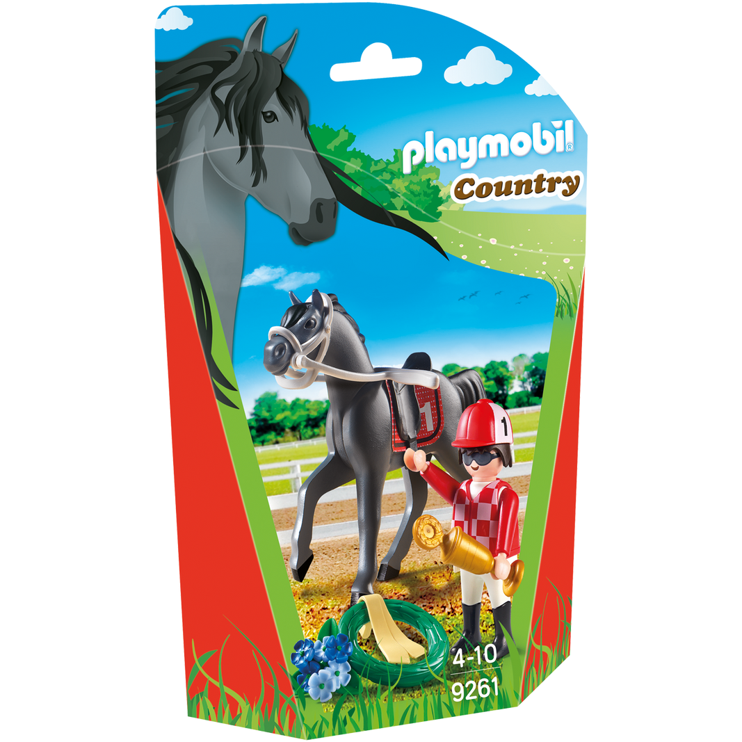 Playmobil Country Jockey & Horse