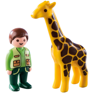 Playmobil 123 Zookeeper with Giraffe 9380 canada ontario zoo toy