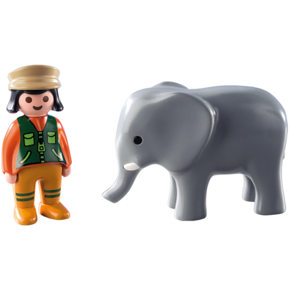 Playmobil 123 Zookeeper with Elephant zoo canada ontario toy 9381