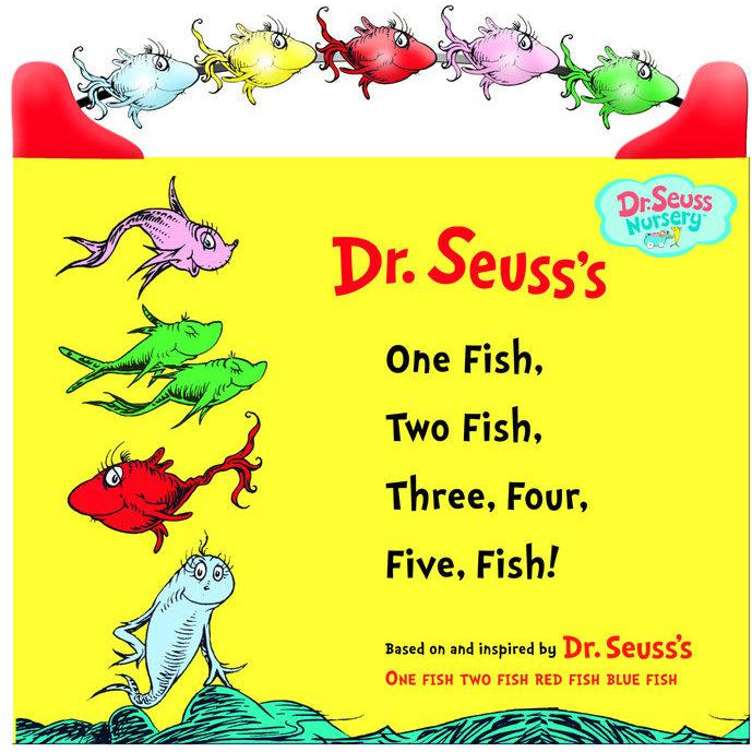 Dr. Seuss One Fish, Two Fish, Three, Four, Five Fish Board Book