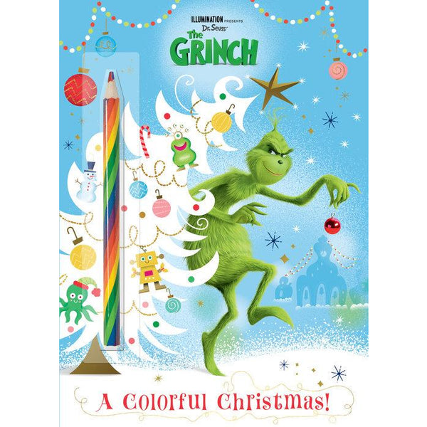The Grinch Colourful Christmas colorful colouring book coloring