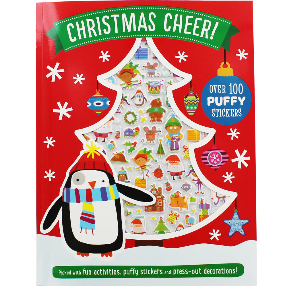 Christmas Cheer Activity Book with Puffy Stickers make believe ideas canada ontario