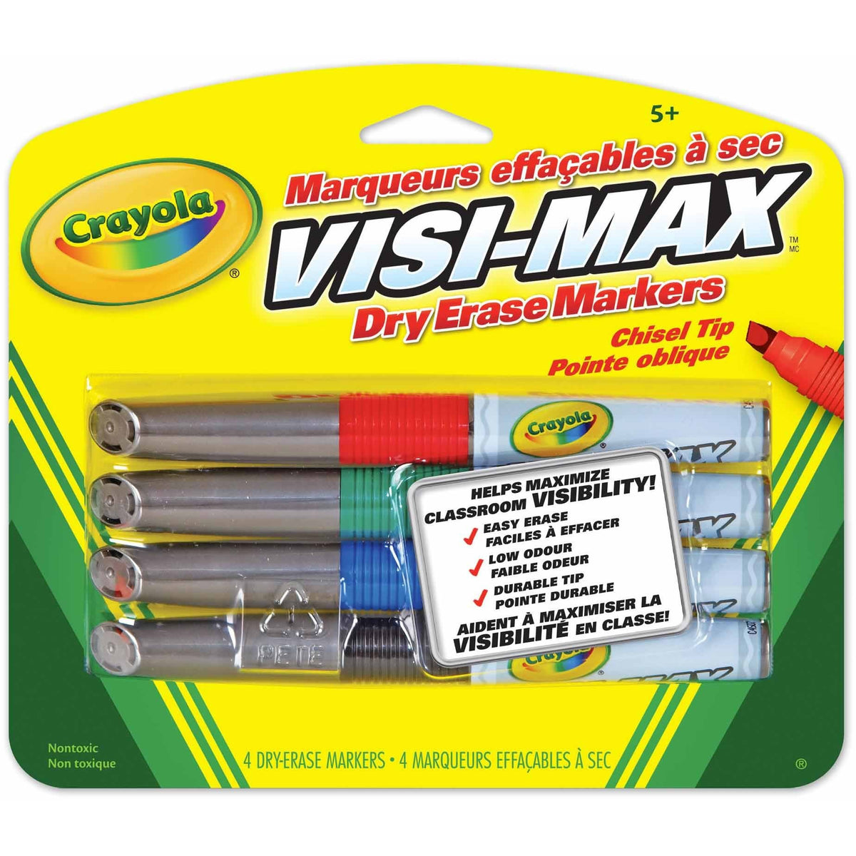 Crayola Visi Max Dry Erase Markers 4 Pack