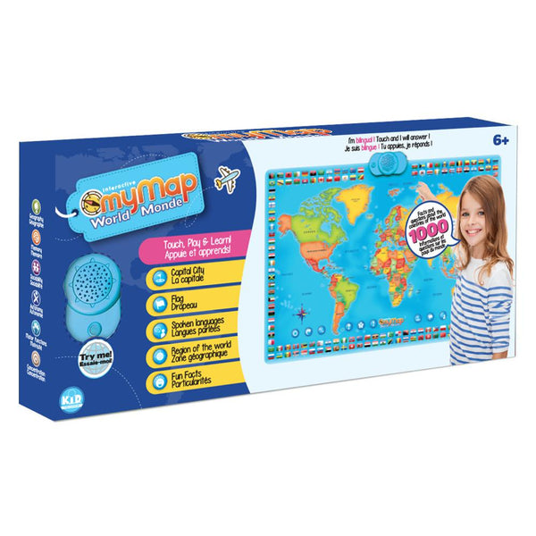Interactive My Map World Bilingual french english canada ontario