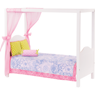Our Generation My Sweet Canopy Bed Blue Floral