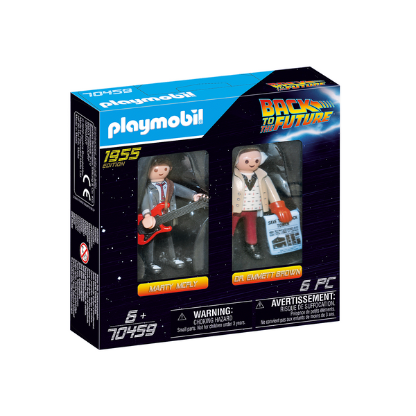 Playmobil Back to the Future Marty Mcfly and Dr. Emmett Brown 70459 canada ontario