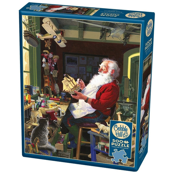 Cobble Hill Jigsaw Puzzle 500 Piece Santa's Workbench 85043 canada ontario christmas