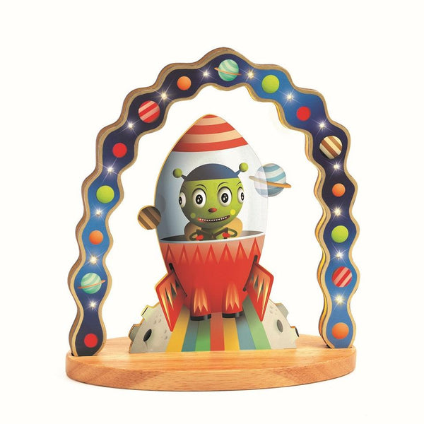 djeco wooden night light mister zinzin space spaceship galaxy outerspace canada ontario