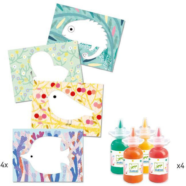 Djeco Painting Kit: Squirt & Spread canada ontario toddler craft kit