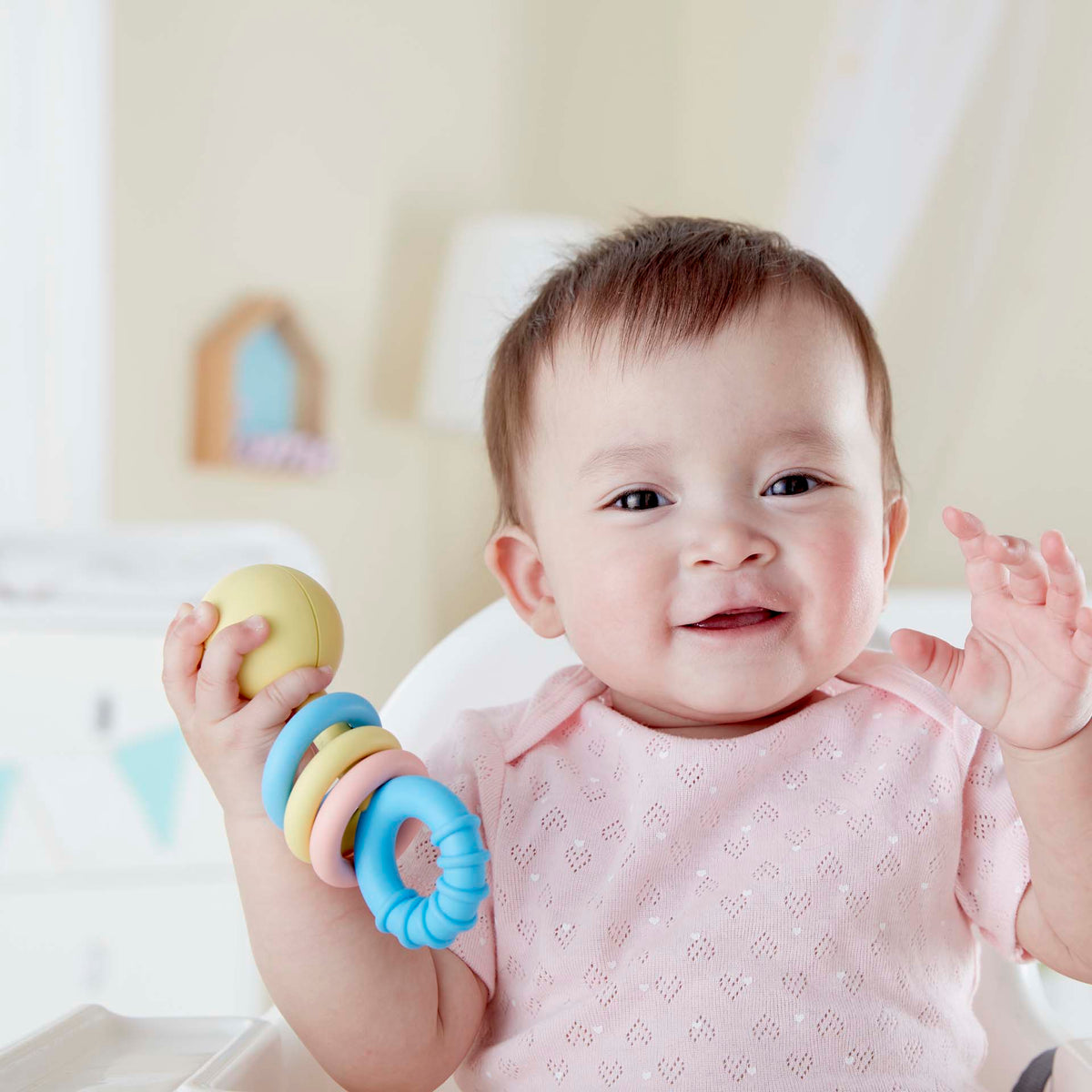 Hape Rattling Rings Teether e0024 canada ontario baby infant