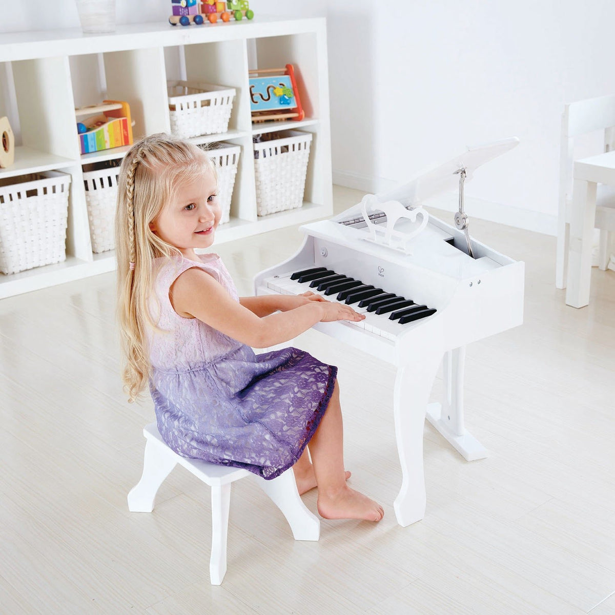 Hape Deluxe Grand Piano White