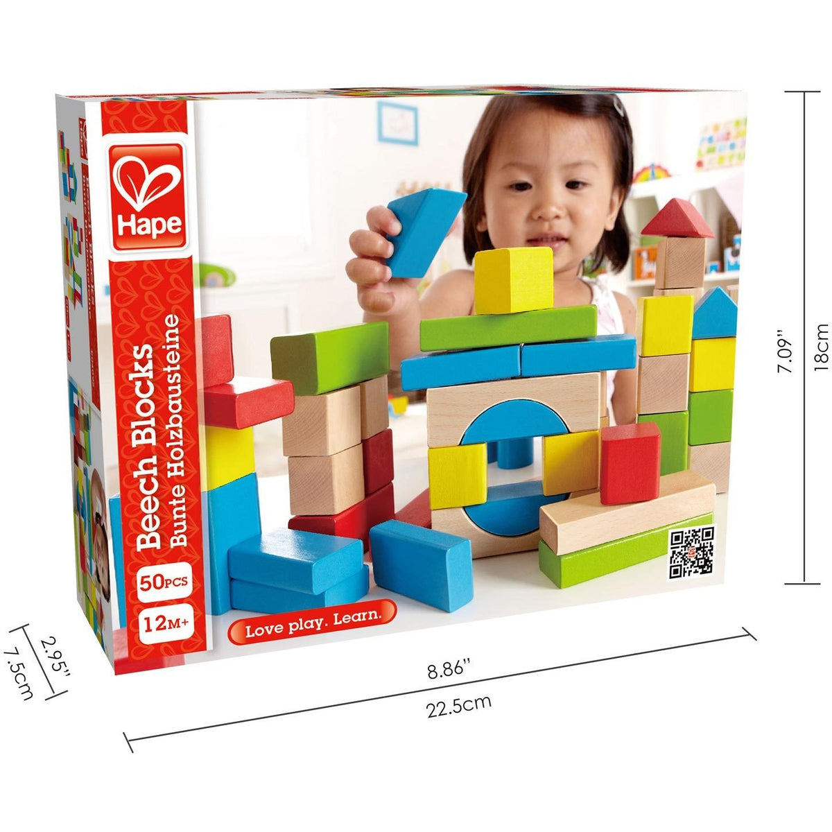 Hape Wooden Maple Blocks