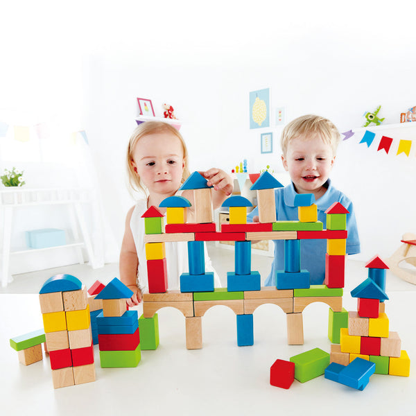Hape Build Up & Away Blocks E0427 wooden building canada ontario