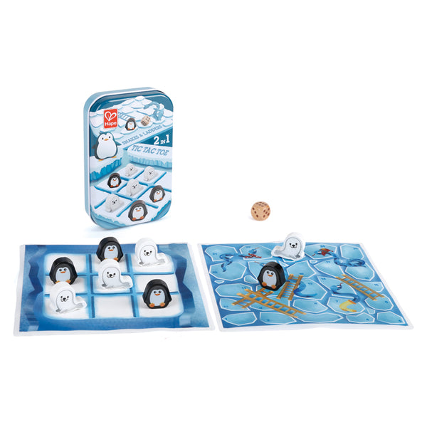 Hape 2-in-1 Games: Snakes & Ladders/Tic-Tac-Toe