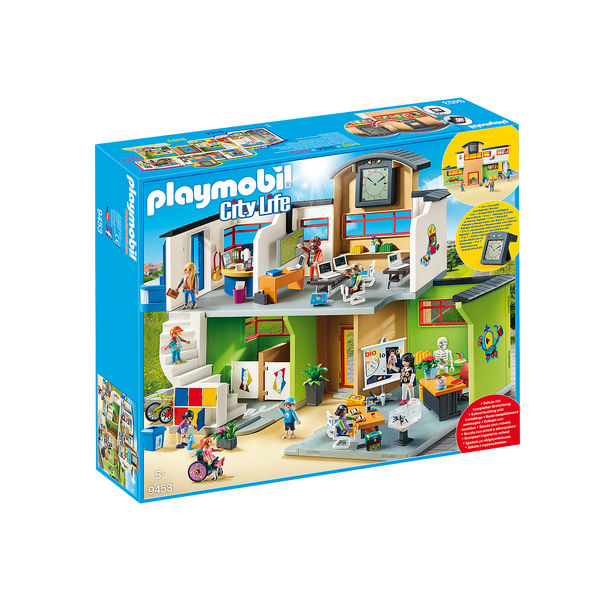 Playmobil City Life Furnished School Building 9453 canada ontario
